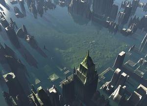 Une simulation de la submersion de la ville de New York. © Creative Commons - Cherrylynx